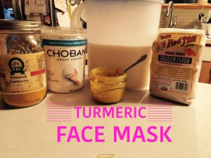 ingredients for a turmeric face mask