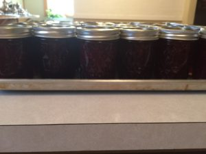 jars filled with strawberry jam