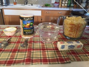 items used in sweet corn