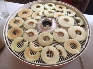 apples on tray