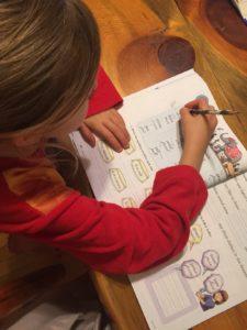 work book used in homeschool