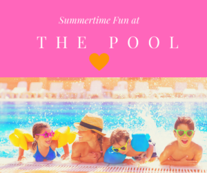 Summertime fun at the pool