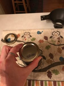 tightening ring on a jar
