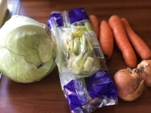 veggies for making cabbage soup