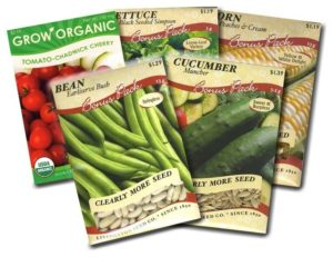 veggies seed packets