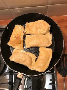 veronicas frying in a pan