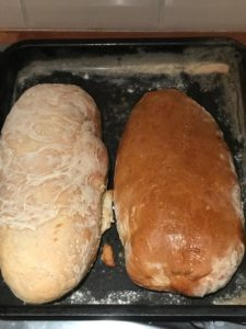 two loaves of Sicilian Bread