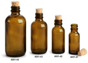 amber colored bottles
