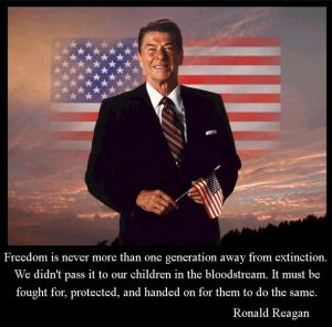 Ronald Reagan quote about freedom