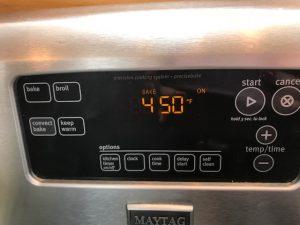 oven temperature