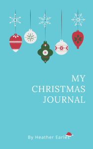 A Christmas Journal to write down your gift ideas before shopping season rolls around. #HeatherEarles #herbnwisdom #holidayshopping #giftideas #Christmasgiftideas #Christmasjournal