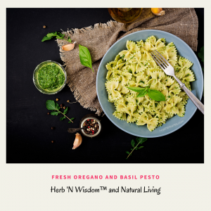 Making Pesto with Fresh Oregano or Basil #heatherearles #herbnwisdom #naturalliving #healthblogger #podcaster #oregano #italiandishes #herbels #pesto