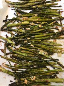 finished baked asparagus