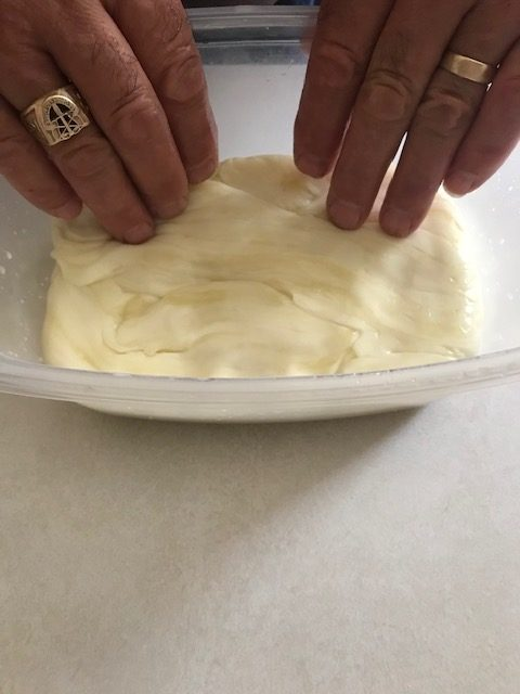 molding the cheese