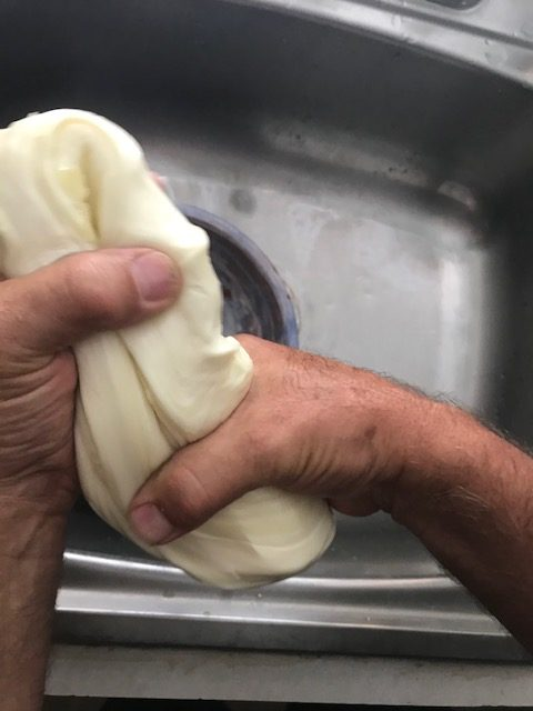 stretching the cheese