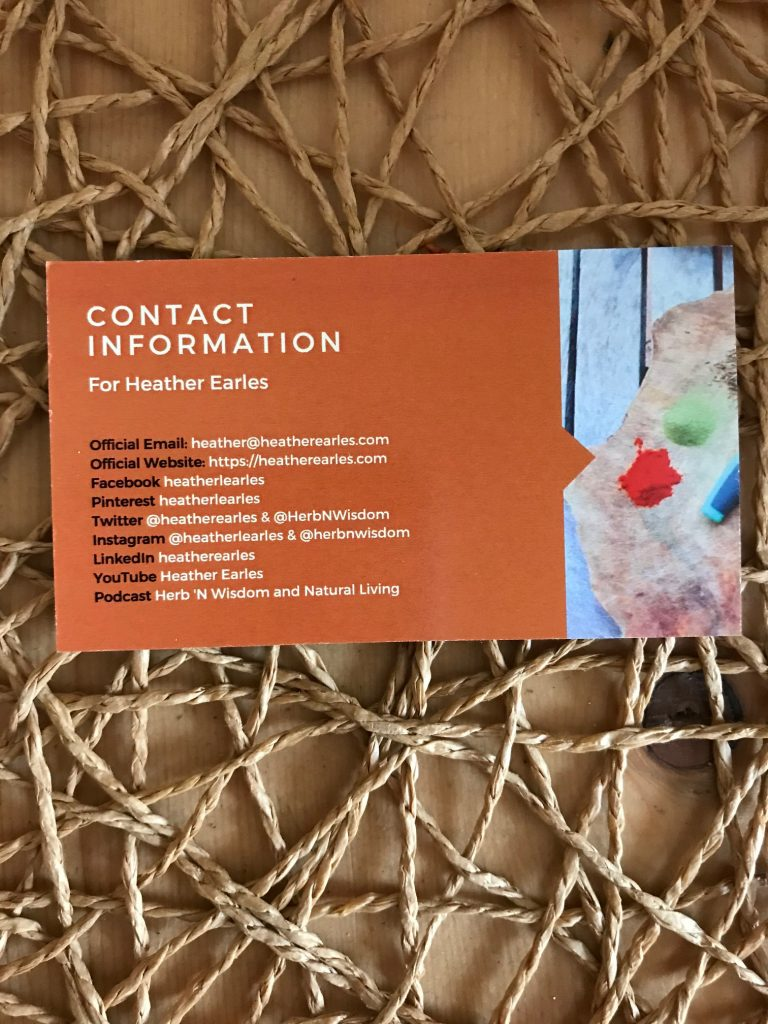 Heather Earles business card