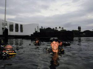 Eric Gilmet diving.